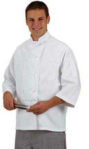 Cook's Classics 3/4 Sleeve Twill Chef Coat - White (S-xl)