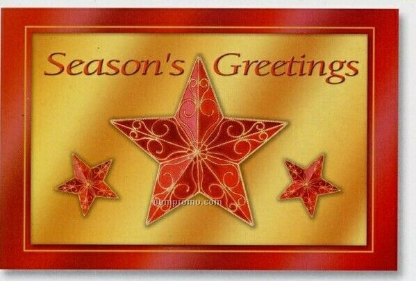 Shimmering Stars Greeting Cards (After 9/1/11)