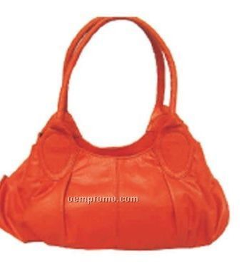Ladies Lime Green Shirley 2 Handle Hobo Bag W/ Top Closure