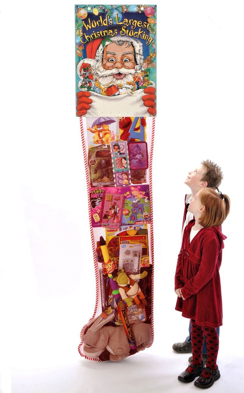 The World's Largest 8' Promotional Hanging Standard Christmas Stocking