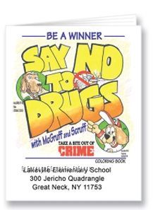 Say No To Drugs Activity Coloring Book
