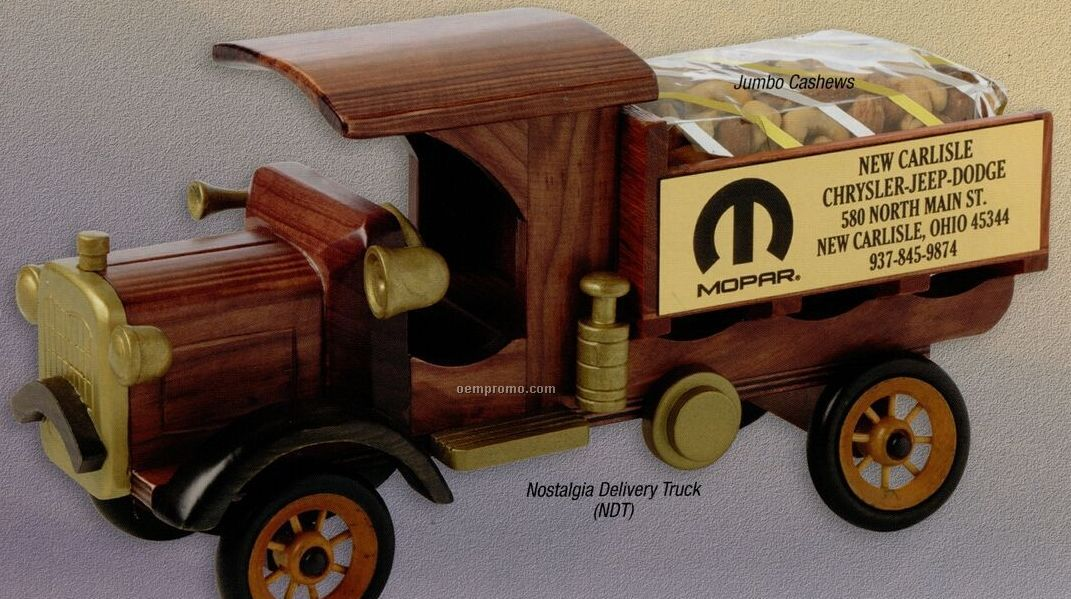 Wooden Nostalgia Delivery Truck W/ Jelly Bellys