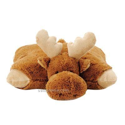 Moose Pillow Pal Stuffed Animal With Bandana