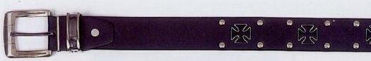Metal Hardware Cross & Studs Belt (Black)