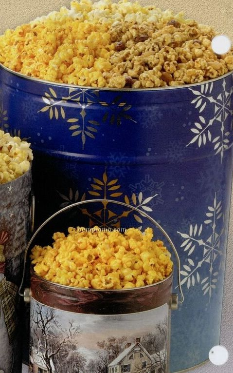 1/2 Gallon Buttered Designer Popcorn Tin