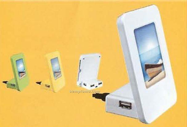 USB Hub W/ Flashing Photo Frame