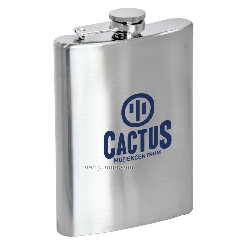Large Steel Hip Flask