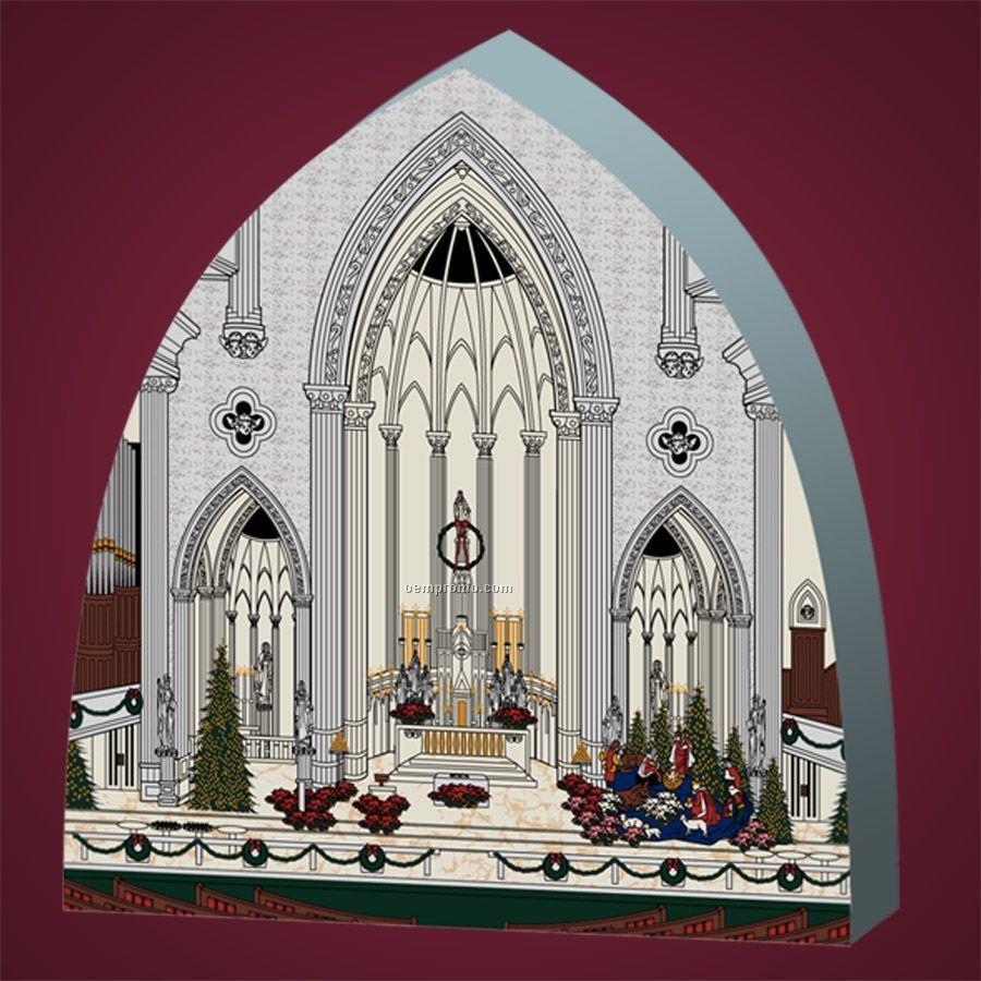 10 Square Inch Wooden Replica Church