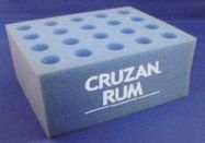 """20 Hole Square Foam Rack For 6"""" Test Tubes - Blank"""