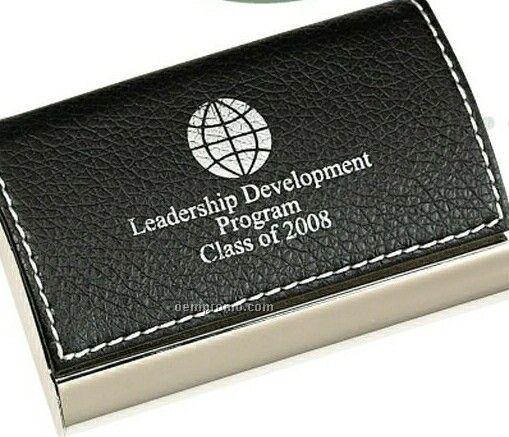 Leatherette Cardholder W/ Metal Base