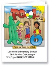 Pool Safety Activity Coloring Book