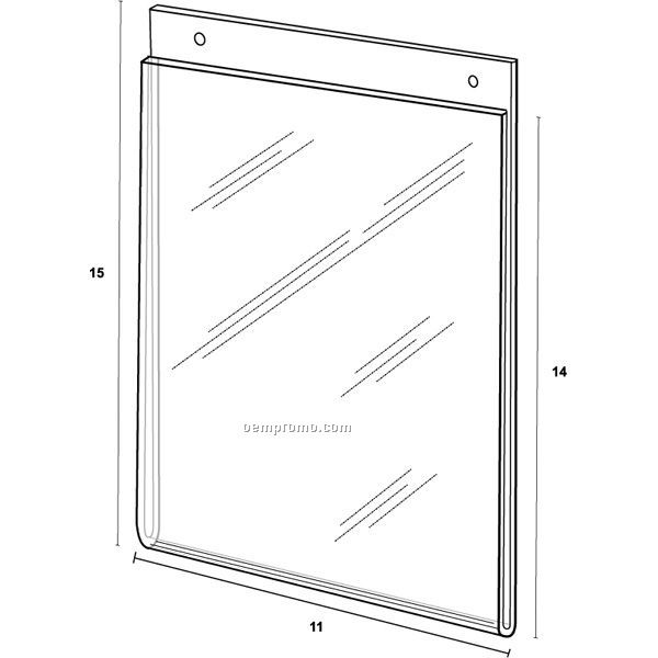 Wall Frame For 11'' W X 14'' H W/Holes