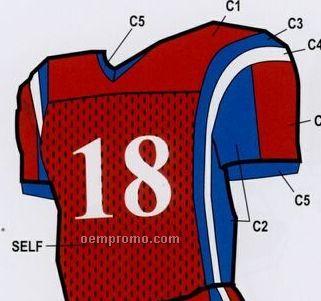 Youth Custom Football Uniform Jersey W/ Contrast Side Panel & Side Stripe