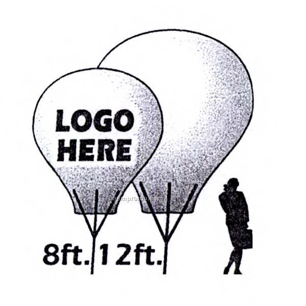 8' Pvc Hot Air Balloon Shaped Inflatable ( One Color Art)