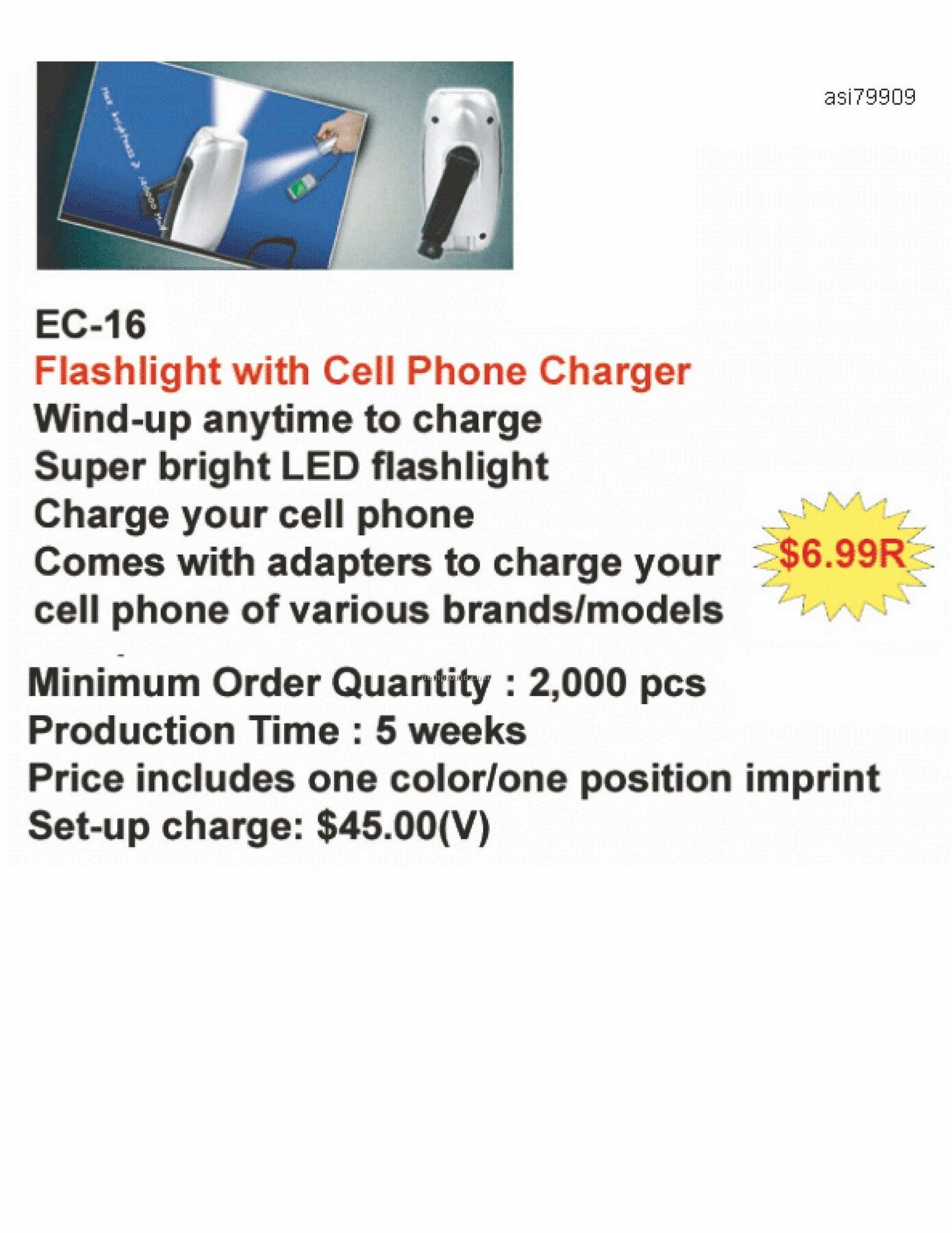 Flashlight With Cell Phone Charger
