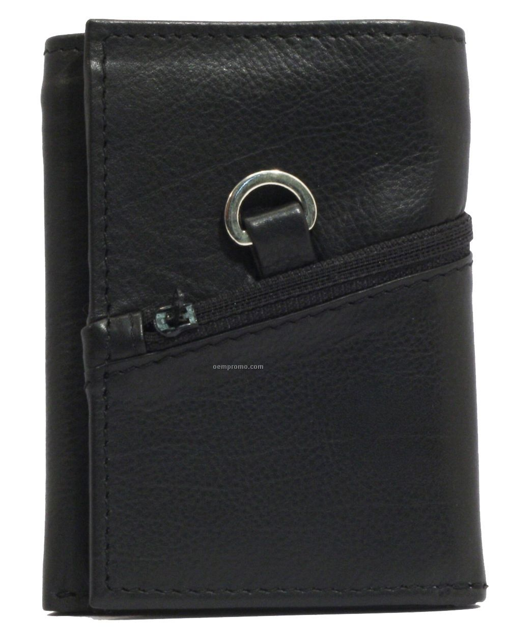 Men's Napa Lambskin Tri-fold Wallet W/Center Section