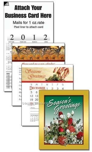 2011 Christmas Floral Cover 13 Month Multi-purpose Calendar