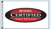 Checkers Double Face Dealer Logo Spacewalker Flag (Toyota Certified)