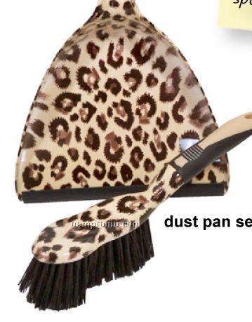 Leopard Dust Pan W/ Hand Broom