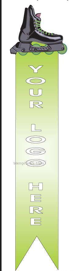 Roller Blade Bookmark W/ Black Back