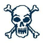 """Stock Temporary Tattoo - Skull And Bones (1.5""""X1.5"""")"""