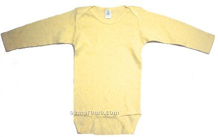 Yellow Rib Knit Long Sleeve Onezie
