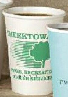 10 Oz. White Paper Cup (Screen Printing)