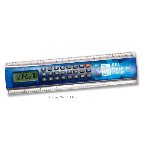 """8"""" Calculator Ruler In Blue"""