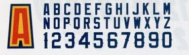 "Ballpark Numbers - Poly-twill (Anaheim (6"")"