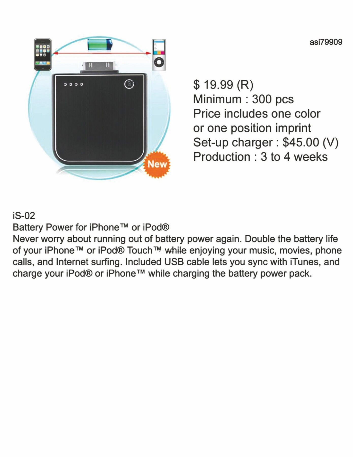 Battery Power For Iphone, Ipod