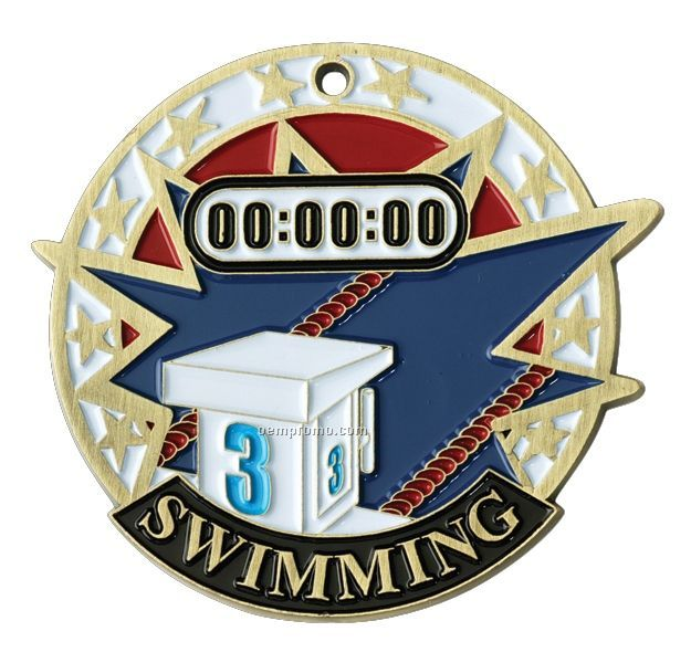 """Medals, """"Swimming"""" - 2"""" Usa Sports Medals"""