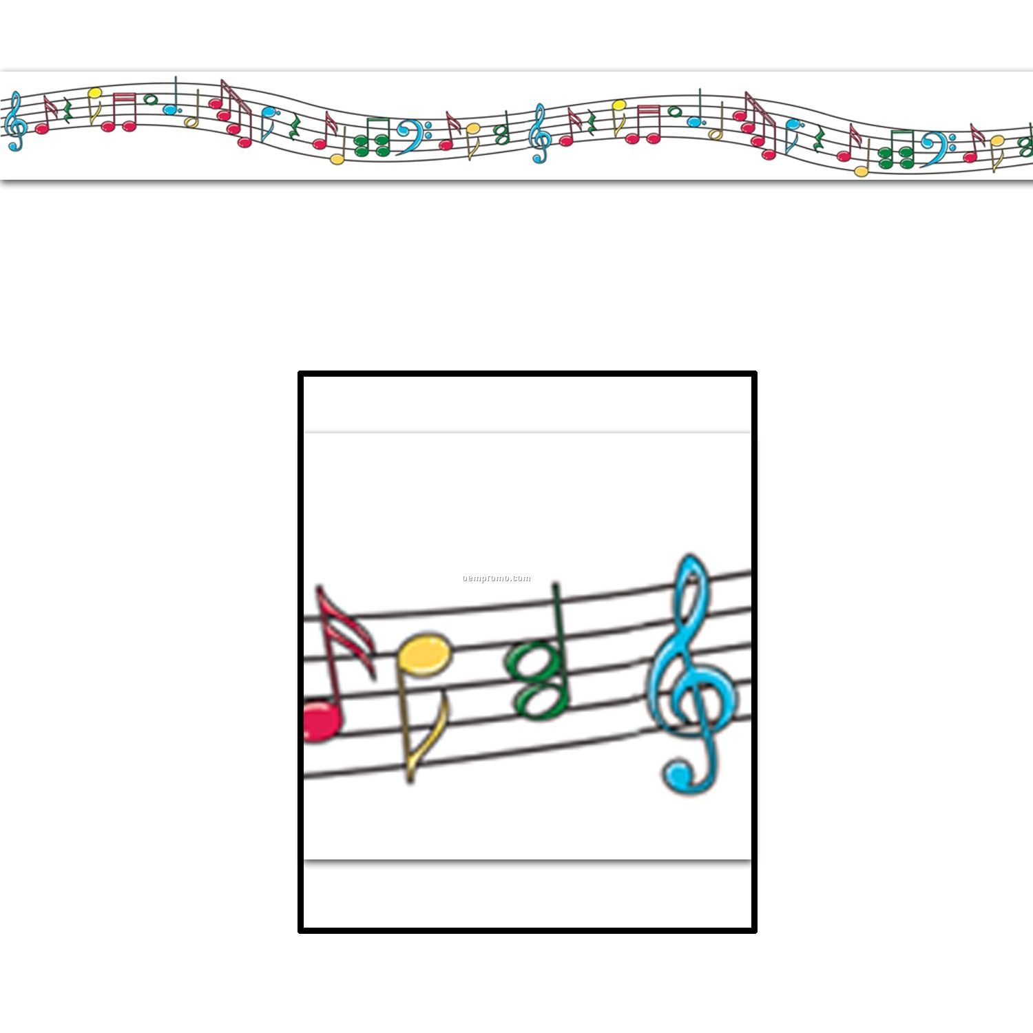 Music Staff & Notes Party Tape