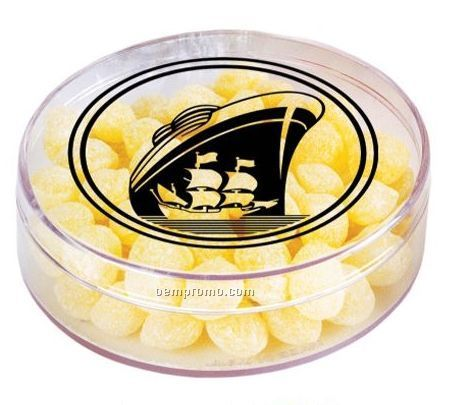 Round Plastic Container W/ Red Hots