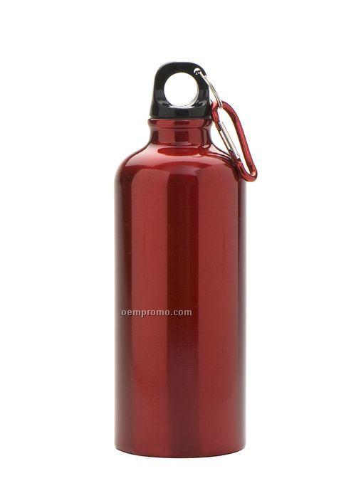 17 Oz. Aluminum Bottle W/ Carabiner