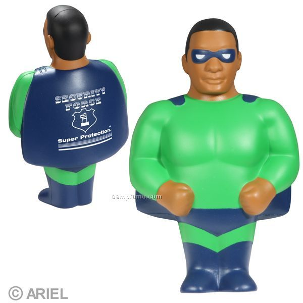 African American Super Hero Squeeze Toy