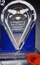 "Indigo Gallery Crystal Distinction Award (10 1/2"")"