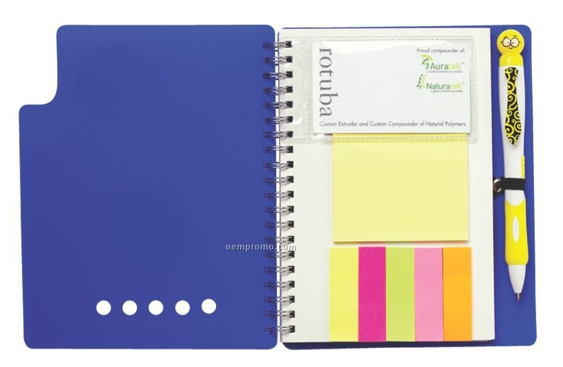 Large Memo Pad With Flags Set