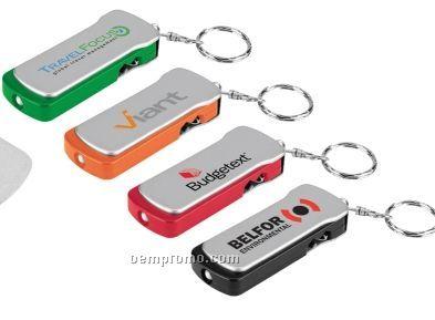 Travel Tool Flashlight Key Tag