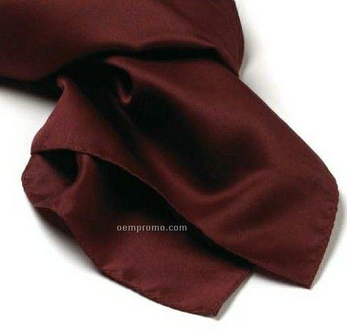 "Wolfmark Solid Maroon Silk Scarf (45""X8"")"
