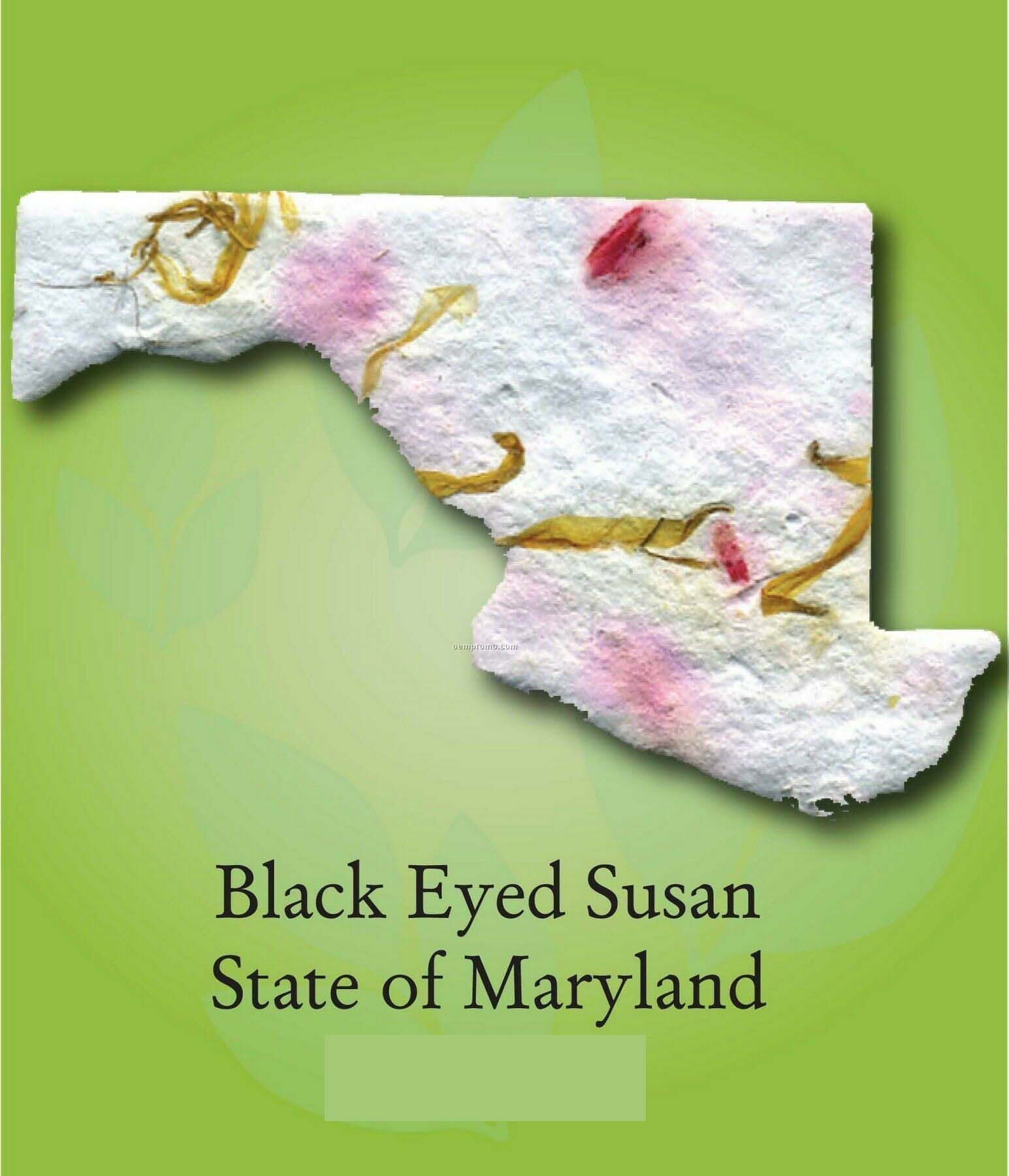Black Eyed Susan State Of Maryland Ornament With Embedded Seed