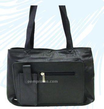 Ladies Dark Brown Virginia Organizer Bag W/ Cello Pone Pocket