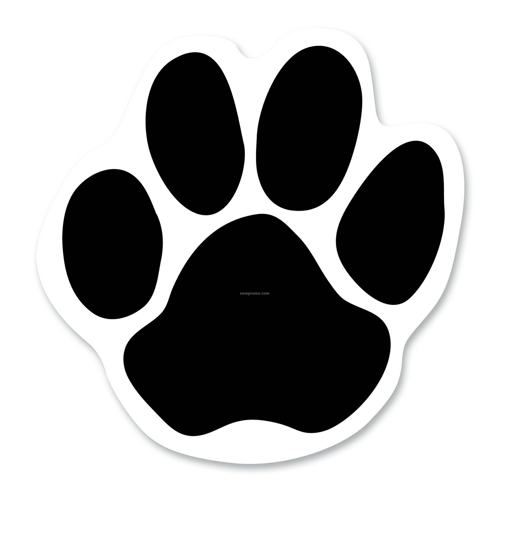 Paw Print Spot Color Screen Print Car Magnets