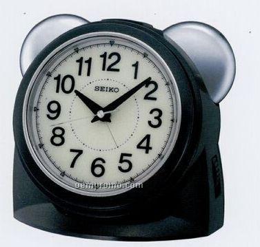 Seiko Black Bedside Alarm Clock
