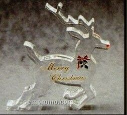 Acrylic Paperweight Up To 20 Square Inches / Reindeer