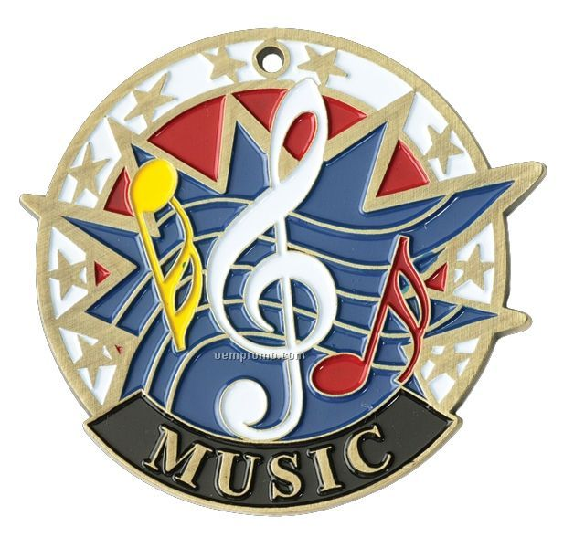 "Medals, ""Music"" - 2"" Usa Sports Medals"