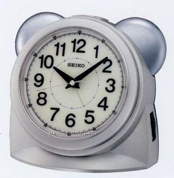 Seiko Silvertone Bedside Alarm Clock
