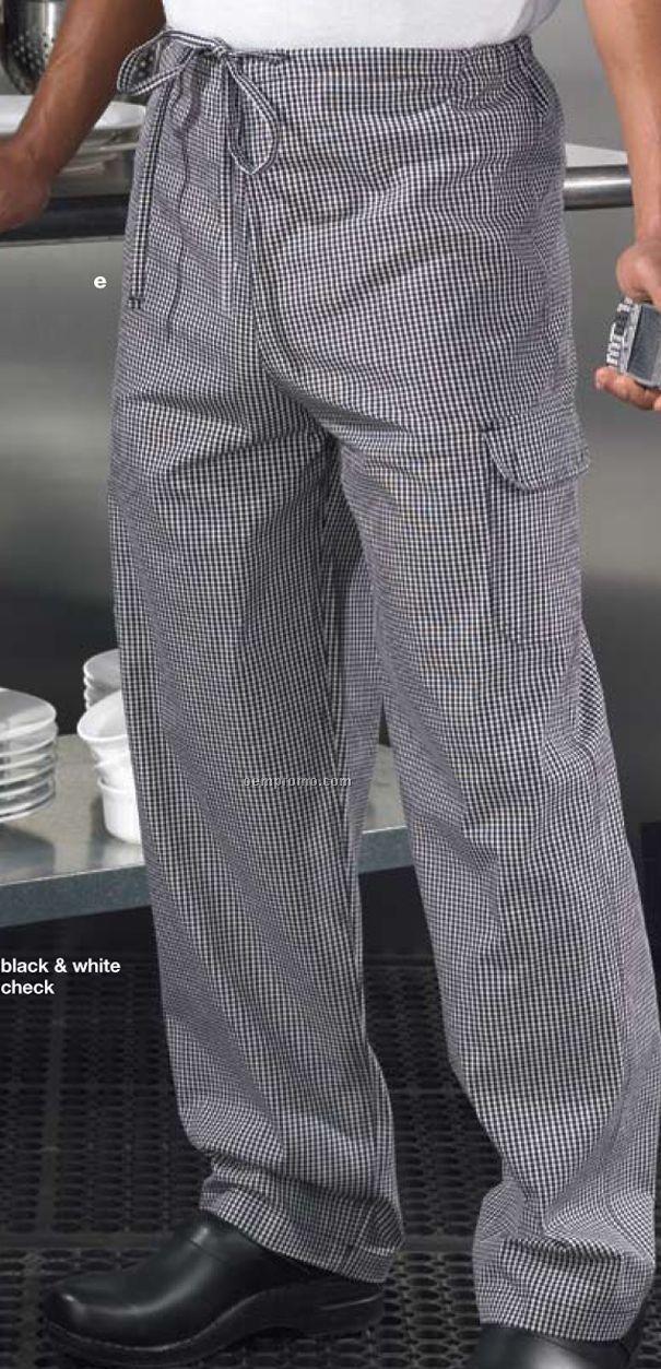Unisex Basic Kitchen Scrub Pants Checkered