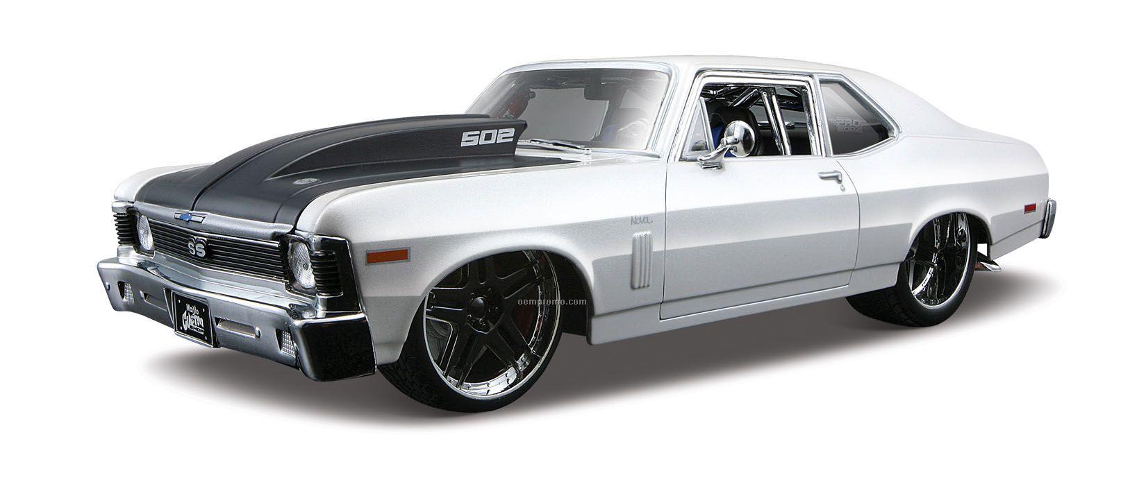 """9 """"X2 1/2""""X3"""" 1970 Chevrolet Nova Ss Coupe All Star Die Cast"""