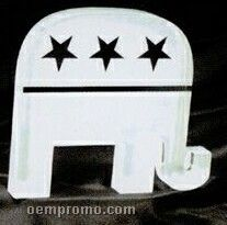 Acrylic Paperweight Up To 20 Square Inches / Republican Elephant