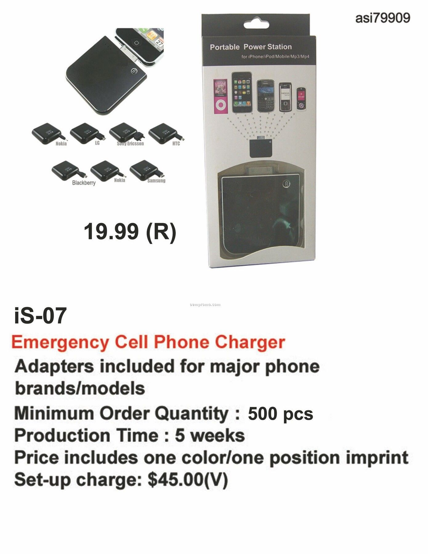 Battery Charger For Iphone, Ipod, Blackberry, Android